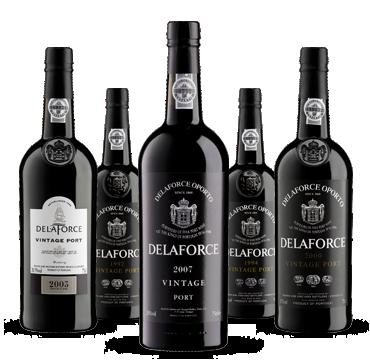 Delaforce Vintage Portweine 2007, 2003, 2000, 1994, 1992